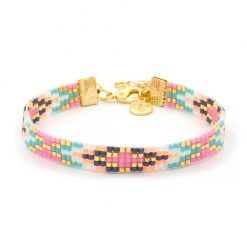 Beaded Bracelet - Festival Colors - Goud