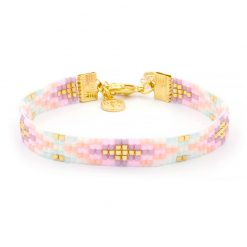 Beaded Bracelet - Happy Pastels - Goud
