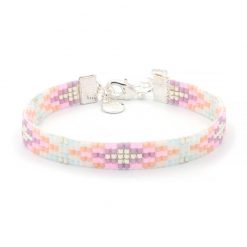 Beaded Bracelet - Happy Pastels - Zilver