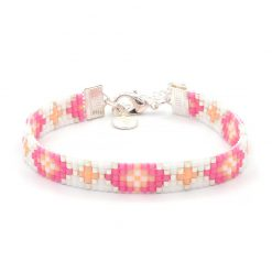 Beaded Bracelet - Hawaii Flower - Zilver