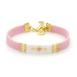 Beaded Bracelet - Simply Chique - Pink - Goud