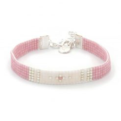 Beaded Bracelet - Simply Chique - Pink - Zilver