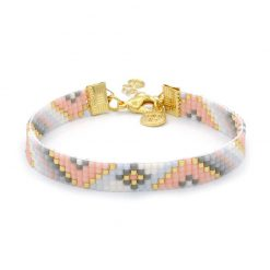 Beaded Bracelet 'Soft Pastel Twist'