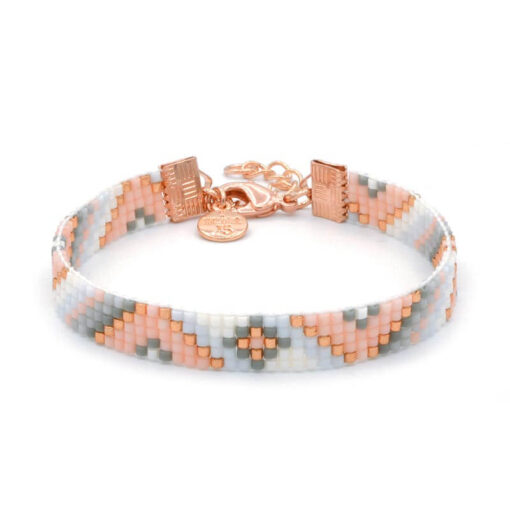Beaded-Bracelet---Soft-Pastel-Twist---Rosegoud