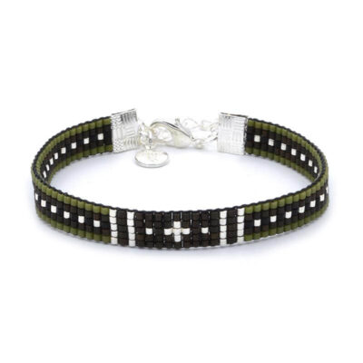 Beaded-Bracelet---Survivor---Zilver