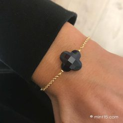 Armband Lucky Clover - Dark Blue