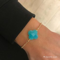 Armband Lucky Clover - Turquoise