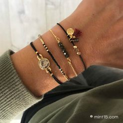 Armbandenset 'Army & Black' - Goud