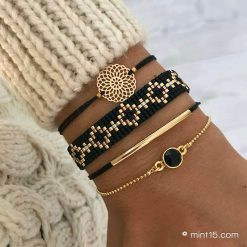 Armbandenset 'Black Diamonds' - Goud