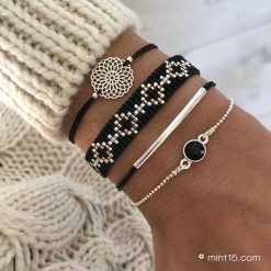 Bracelet set 'Black Diamonds'