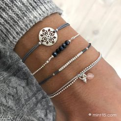 Bracelet set 'Dark Grey Tones'
