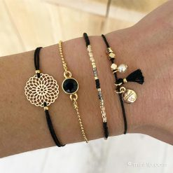 Armbandenset-'Indian-Black'---Goud