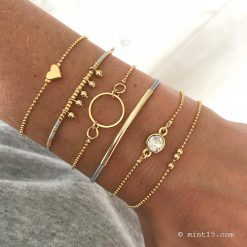 Armbandenset-'Natural-Chique'---Goud