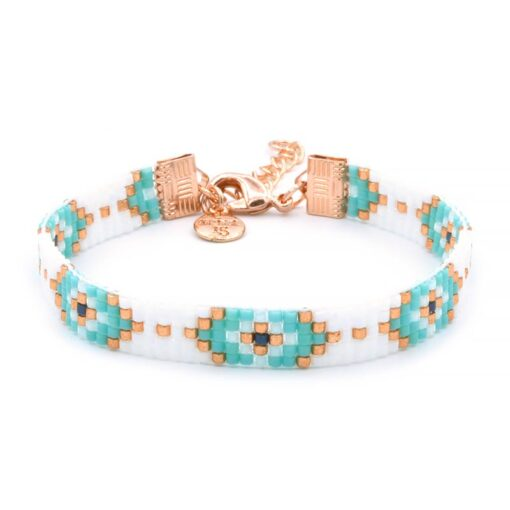 Beaded Bracelet - Lucky Eyes - Rosegoud