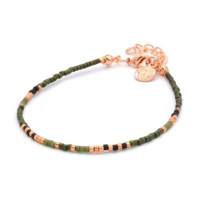 Delicate Bracelet - Army Green - Rose Gold