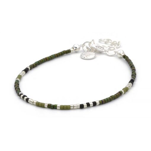 Delicate Bracelet – Black & Army Green