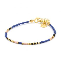 Delicate Bracelet - Royal Blue - Goud