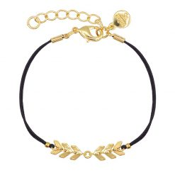 Fishtail Bracelet - Black - Goud