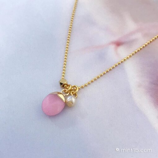 Gemstone Necklace - Sweet Pink