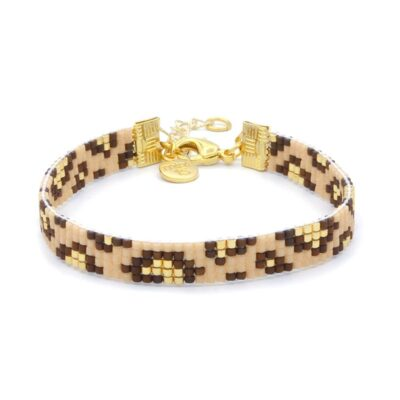 Mint15 Beaded Bracelet - Leopard - Goud