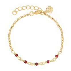 Mint15 - Chain Bracelet - Bordeaux - Goud