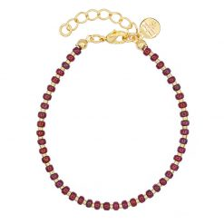 Mint15 - Dotted Bracelet - Bordeaux - Goud
