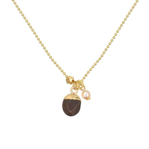 Gemstone Necklace - Dark Brown