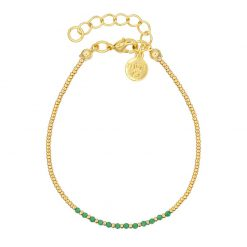 Little Jade Beads - Emerald Green - Goud