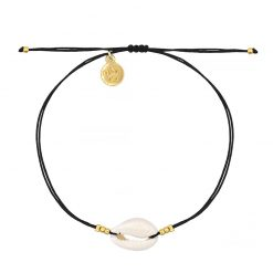 Little Shell Bracelet - Black - Goud