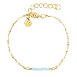 Little Sparkles – Soft Aqua Blue – Goud