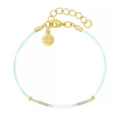 Mini Bracelet - Light Blue - Goud