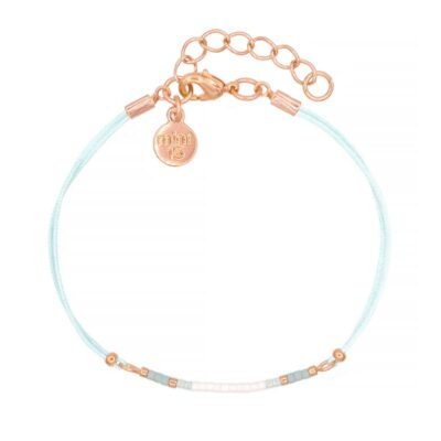 Mini Bracelet - Light Blue - Rosegoud