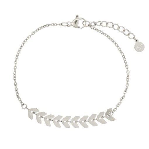 Mint15 Stainless Steel - Fishtail bracelet - Steel color