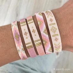 Pastel colored beaded bracelets