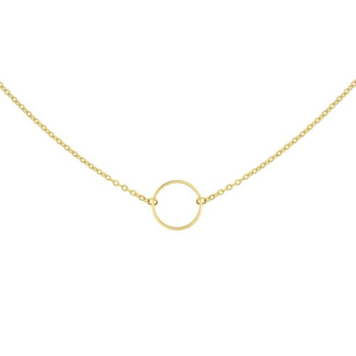 Mint15 - Infinity Ring Necklace - Goudkleur