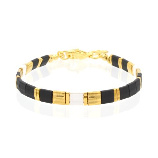 Mint15 Tila Bracelet - Black & White - Goud