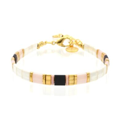 Mint15 Tila Bracelet - White & Black - Goud