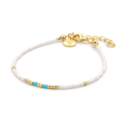 Mint15 Delicate Bracelet - Touch of Turquoise - Goud