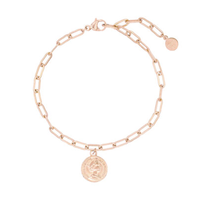 Mint15-Stainless-Steel-Chain-Coin-Bracelet-Rosegoud