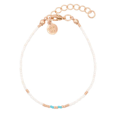 Mint15 Delicate Bracelet - Touch of Turquoise - Rosegoud